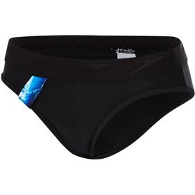speedo Stormza Slip de natation Femme, black/blue